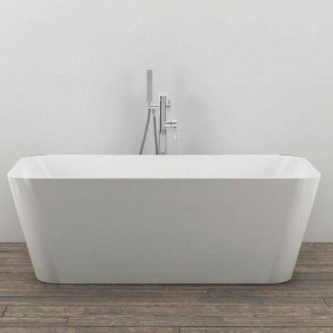 Vasca Da Bagno Free Standing 003 Acrilico Bianco Lucido Rettangolare Misure 150x75x58 Cm Confezione 1