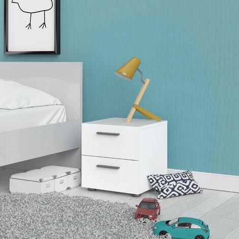 Colore Bianco Dmora Comodino con unanta cm 46 x 35 x 40