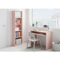 Dmora Scrivania con ripiano estraibile, colore rosa, Misure 79 x 90 x 54 cm