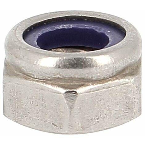 Ecrou Nylstop M4 Inox A2 DIN 985