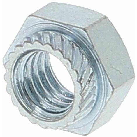 Ecrou A Sertir Hexagonal M8 Zingué