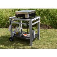 Cook'in Garden - Desserte de jardin Media M pour barbecue/plancha/plan de travail - L 93,5 × l 67 × H 80,5 cm