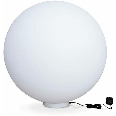 LED light 60cm - Decorative bright sphere, 16 colours, Ø 60 cm, wireless induction charger.