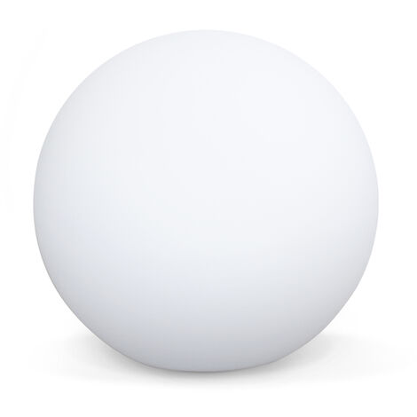 LED light 30cm - Decorative light sphere, 16 colours, Ø 30 cm, wireless induction charger.