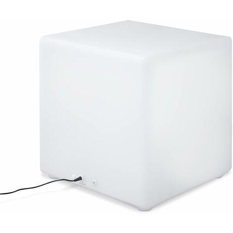 40cm LED Cube - Decorative light cube, 16 colours, 40cm, rechargeable, remote control