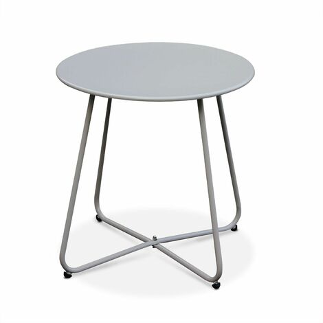 Round coffee table - Cecilia Taupe grey - Round side table Ø45cm, powder coated steel