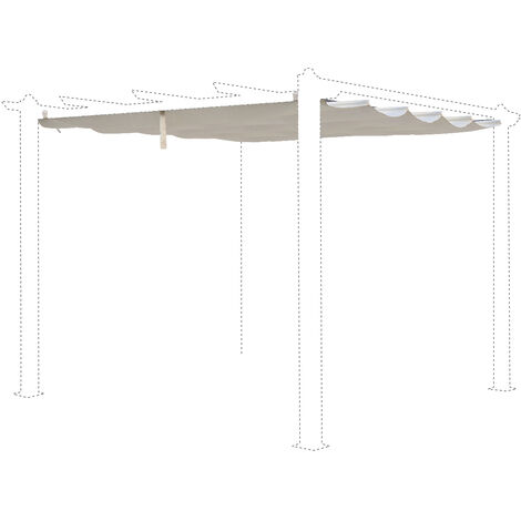 Off-white canopy roof for 3x3m Condate gazebo - pergola replacement canopy, replacement canopy