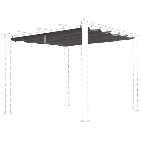 Grey canopy roof for 3x3m Condate gazebo - pergola replacement canopy, replacement canopy