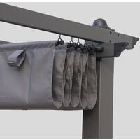 Grey canopy roof for 3x4m Condate gazebo - pergola replacement canopy, replacement canopy