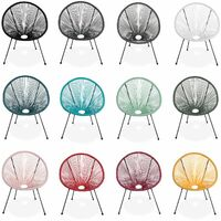 Egg designer string chair - Acapulco Burgundy - PVC designer string chair