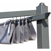 Grey canopy roof for 3x4m Murum gazebo - pergola replacement canopy, replacement canopy