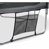 14ft Trampoline with Safety Net & Accessories Kit - Grey - PRO Quality EU Standards