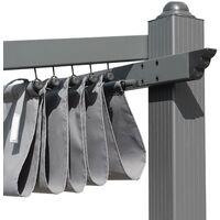 Wall-mounted pergola in aluminium - 3x4m Murum -Grey canopy - The perfect pergola for your terrace, sliding retractable canopy, aluminium frame