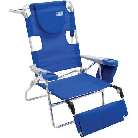 Rio Brands Campingstuhl mit Fußablage blau