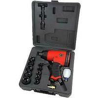 "17pc Heavy Duty 1/2"" Inch Air Impact Wrench Gun 9 - 27mm Sockets Set"