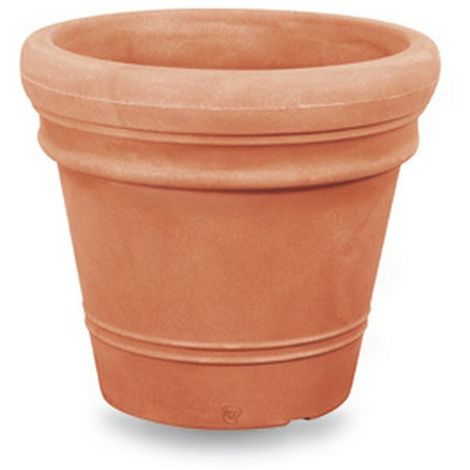 Pot Double Bord Lisse Ducal   35 cm - Terre cuite