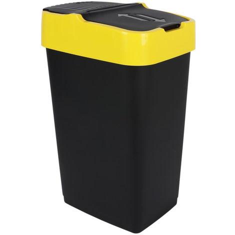 3.03 Abfalleimer mit Schwingdeckel - 35 Liter - 3 Farben sortiert