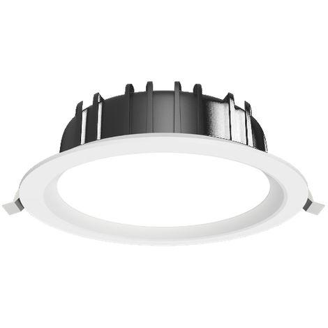 EKARIBU.LIGHT ALF-DL-220-24-3000-2400 - Luminaria empotrable LED, Potencia 24W (2400 lúmenes), 3000 ° K (luz cálida), diámetro de agujero empotrado 205 mm. Garantía de 5 años (50000 horas)