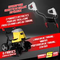 Gardeo GMTBE1506W - Motoazada eléctrica - cultivador electrico - 1500W - ancho de trabajo 40 cm - 3 años de garantía