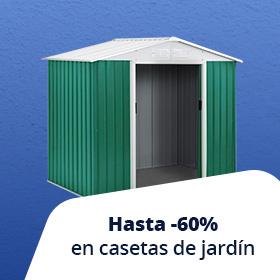 Hasta -30% en casetas de jardín