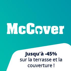 Jusqu'à -45% sur les produits Mc Cover