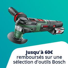 jusqu'à-60€ de réduction sur les outils Bosch