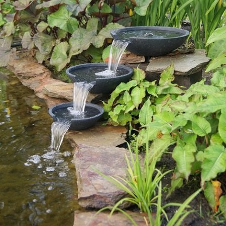 How to make a garden pond with a cascade?