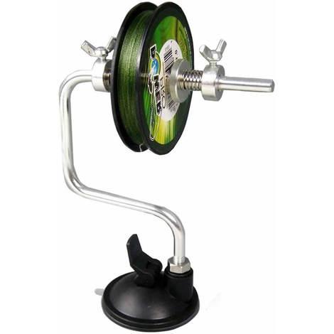 Imbobinatore per mulinelli avvolgilenza filo da pesca con ventosa e ferma bobina
