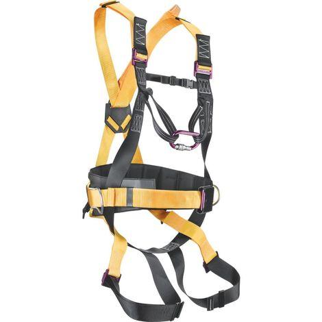 Imbracatura anticaduta con punto d'ancoraggio dorsale e sternale + cintura di posizionamento sul lavoro. EN 361+ EN 358. Completa di moschettone