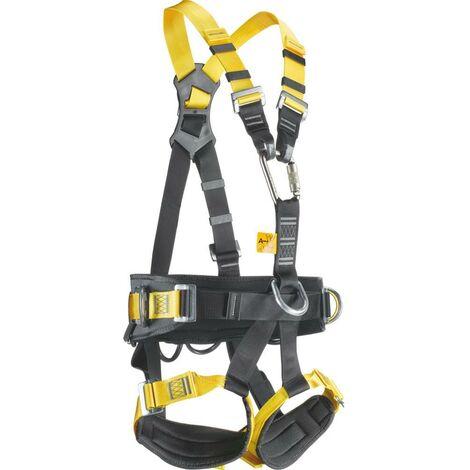 Imbracatura anticaduta con punto di ancoraggio dorsale e sternale. Con cintura di posizionamento + cosciali di sostegno