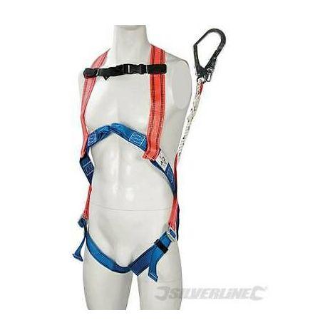 Imbragatura anticaduta in lega di acciaio con moschettone Silverline