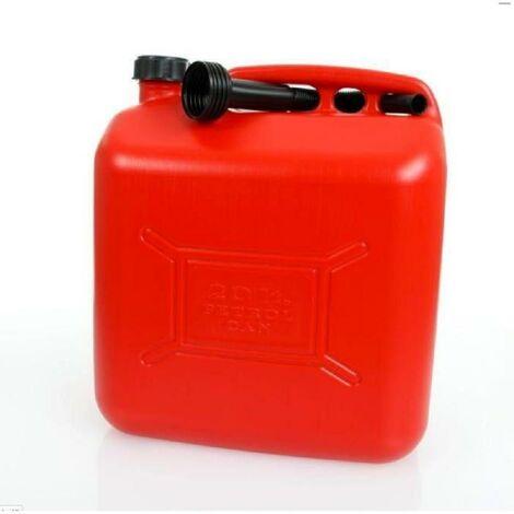 IMDIFA Jerrican Plastique Rouge pour Hydrocarbures 20L