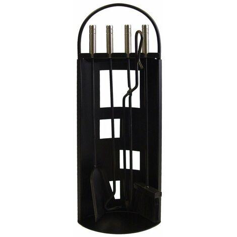 IMEX-10016 Juego chimenea Arco-Chapa utiles negros+inox [imex-10016]