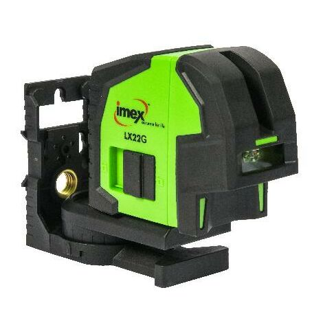 Imex LX22G Green Beam Cross Line Laser with Plumb Stop