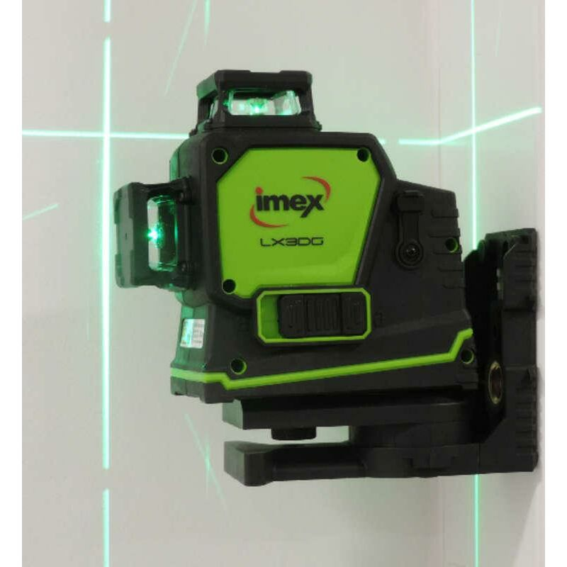 Image of Imex LX3DG Green Beam 3 Line Laser Level with USB Charger