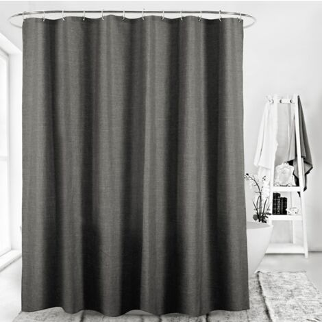 Imitation curtain linen shower curtain separation curtain separation curtain without perforated waterproof polyester and resistant to the thick curtain suspended curtain