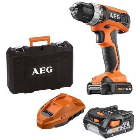 Impact drill AEG 14V tradesman Gen III BSB14G3LI-202C - 2 batteries 2.0Ah - 1 charger
