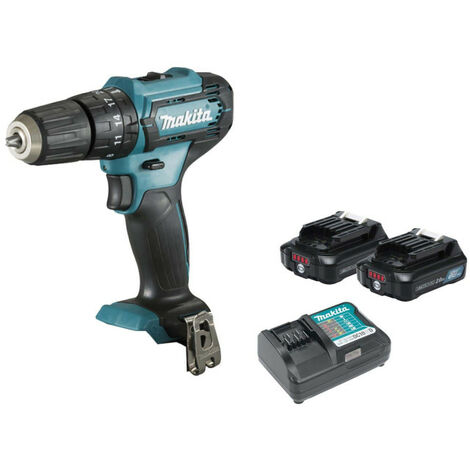 Impact drill MAKITA 12V CXT - 2 batteries BL1021B 2.0Ah - 1 charger DC10WD HP333DWAE
