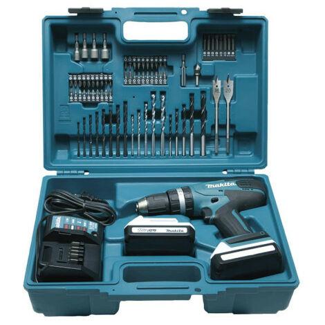 Impact drill MAKITA 18V - 2 batteries BL1815G 1.5Ah - 1 charger DC18WA HP457DWE10