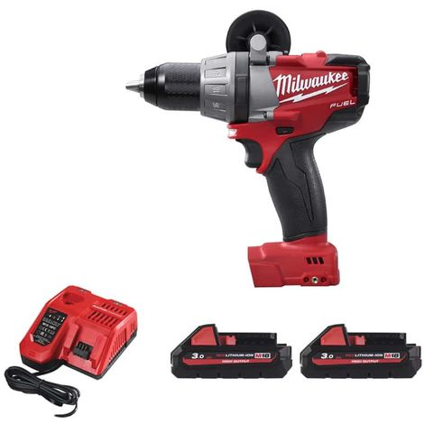 Impact drill MILWAUKEE M18 Fuel CDD-32C - 2 Batteries 3.0Ah - 1 Charger 4933431200