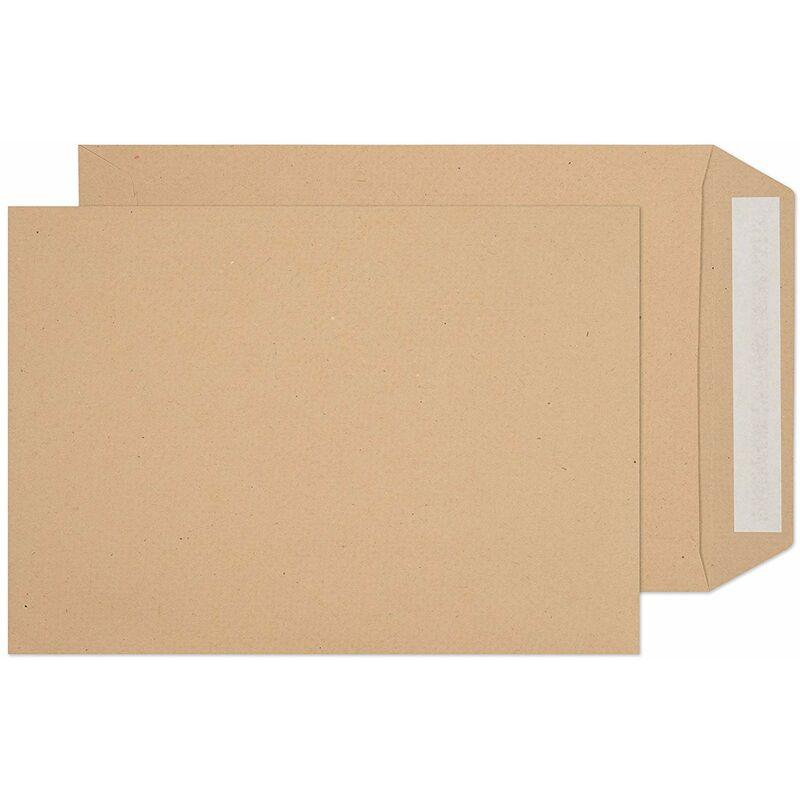 Image of Peel & Seal Manilla Ribbed Envelopes (Pack Of 25) (C5) (Brown) - Impact