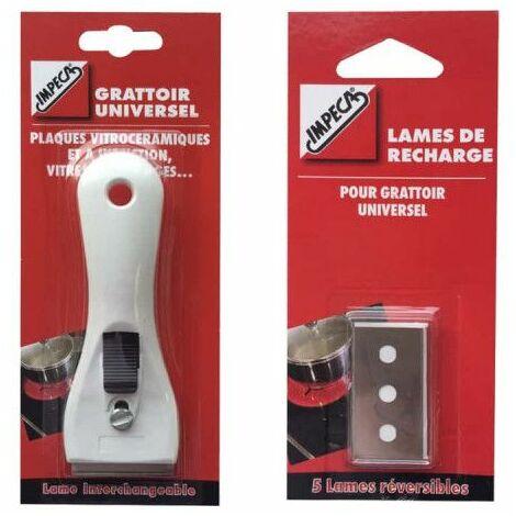IMPECA Pack Rascador universal para todas las superficies - Cuchilla de repuesto