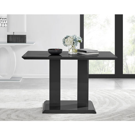 Imperia 4 Modern Black High Gloss Dining Table