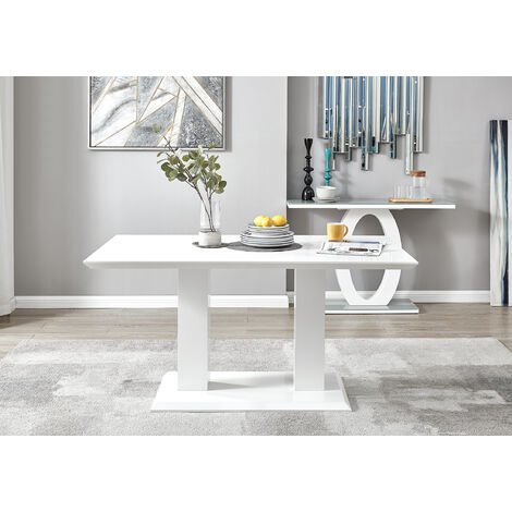 """main image of """"Imperia 6 White High Gloss Dining Table"""""""