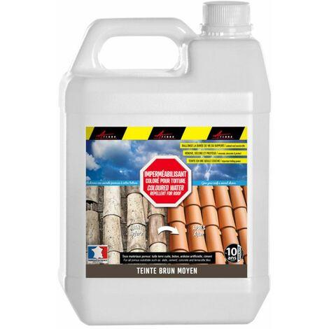 Imperméabilisant coloré toiture pour tuiles terre cuite, béton, ciment, fibrociment, ardoise hydrofuge oléofuge teinté - COLORHYDRO