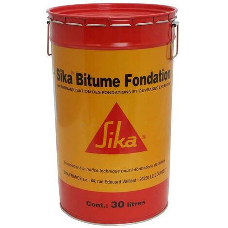 Imperméabilisant des fondations et ouvrages enterrés - SIKA Bitume Fondation - Noir - 30L