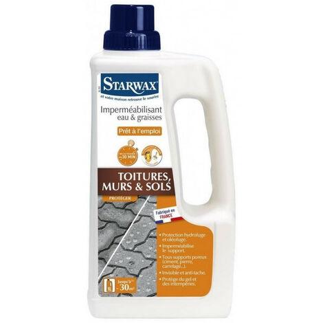 Imperméabilisant toitures murs et sols eau et graisse 1L STARWAX