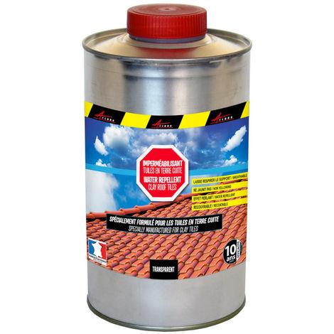 Imperméabilisant hydrofuge incolore pour tuiles en terre cuite toiture poreuse - IMPERTUILE TERRE CUITE