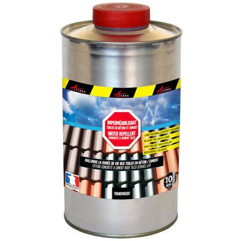 Imperméabilisant pour tuiles en béton et ciment hydrofuge incolore toiture poreuse - IMPERTUILE BETON