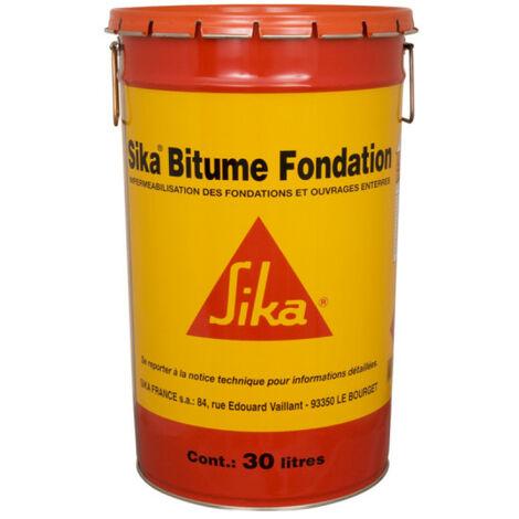 Impermeabilización de cimientos y obras subterráneas - SIKA Bitumen Foundation - Negro - 30L